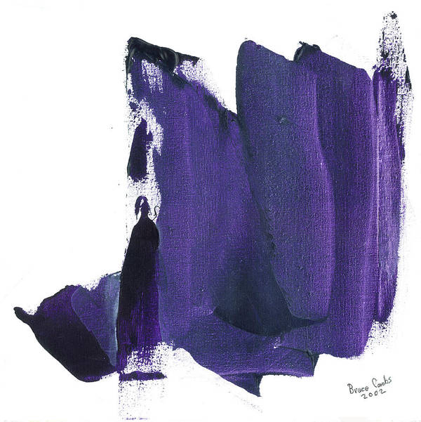 Abstract Art Print featuring the painting Purple Intrigue by Bruce Combs - REACH BEYOND