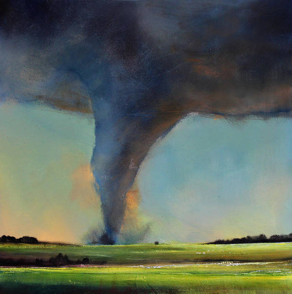 Tornado Print featuring the painting Tornado On The Move by Toni Grote