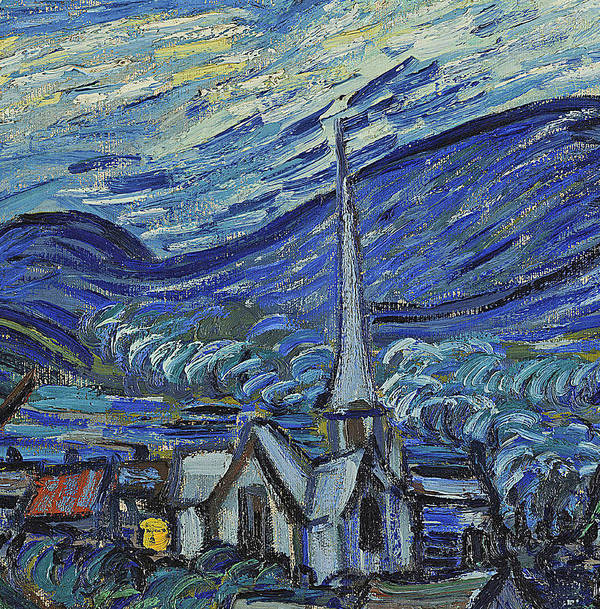 Starry Art Print featuring the painting The Starry Night by Vincent Van Gogh
