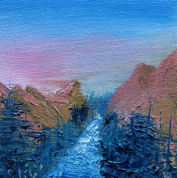 Canyon Art Print featuring the painting A Mighty River Canyon by Jera Sky
