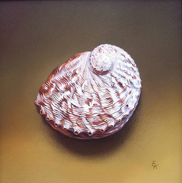 Shell Art Print featuring the painting Abalone Shell - B by Elena Kolotusha