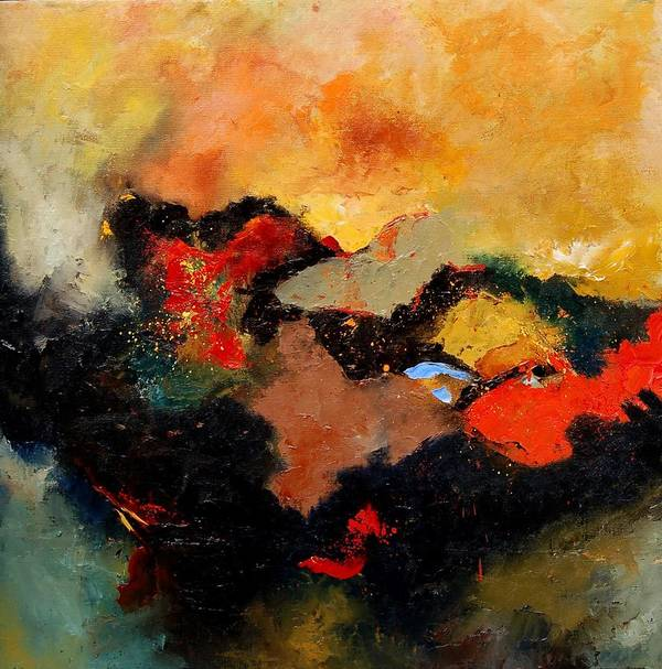Abstract Art Print featuring the painting Abstract 8080 by Pol Ledent