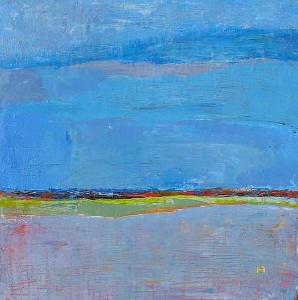 Art Print featuring the painting Abstract Landscape1 by Habib Ayat