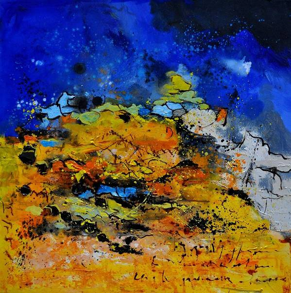 Abstract Art Print featuring the painting Abstract by Pol Ledent