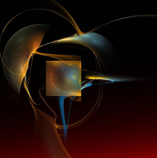 Abstract Art Print featuring the digital art Abstract Still Life 012211 by David Lane
