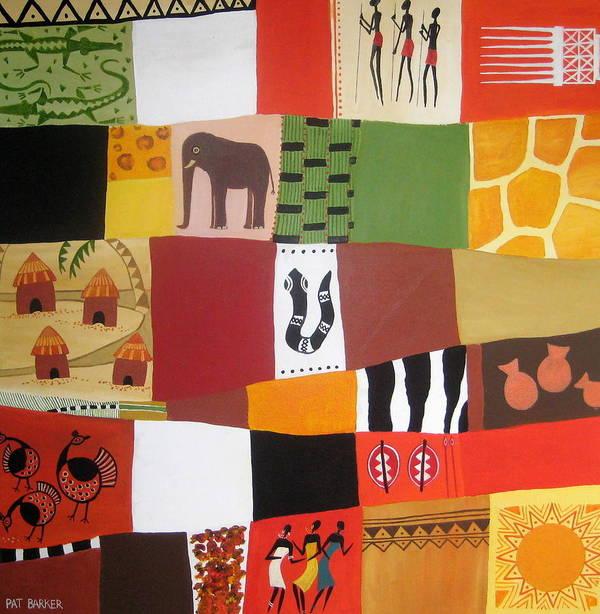 Matrix Art Print featuring the painting African Matrix by Pat Barker