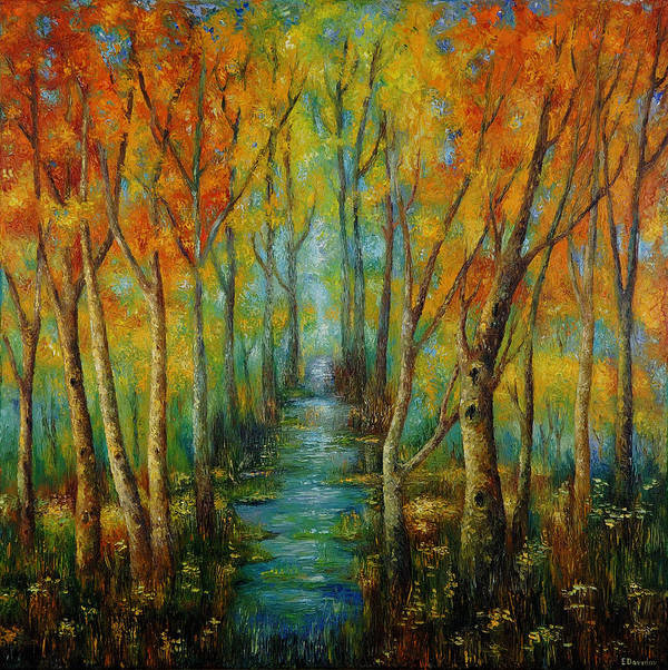 Painting Art Print featuring the painting After Rain. by Evgenia Davidov