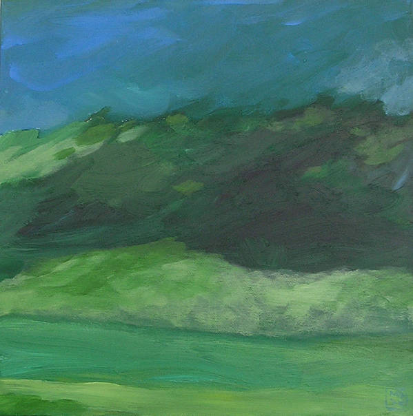 Landscape Art Print featuring the painting Again For The First Time by Mary Brooking