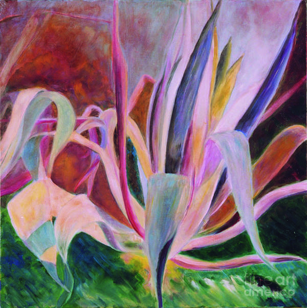 Art Print featuring the painting Agaves Sous Le Soleil by Krzis-Lorent Frederique