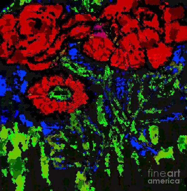 Fania Simon Art Print featuring the mixed media All For You by Fania Simon