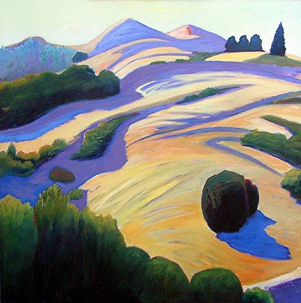 Hills Art Print featuring the painting Alluring Windy Hill by Gary Coleman