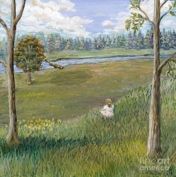 Landscape Art Print featuring the painting Always Enough by Jiji Lee