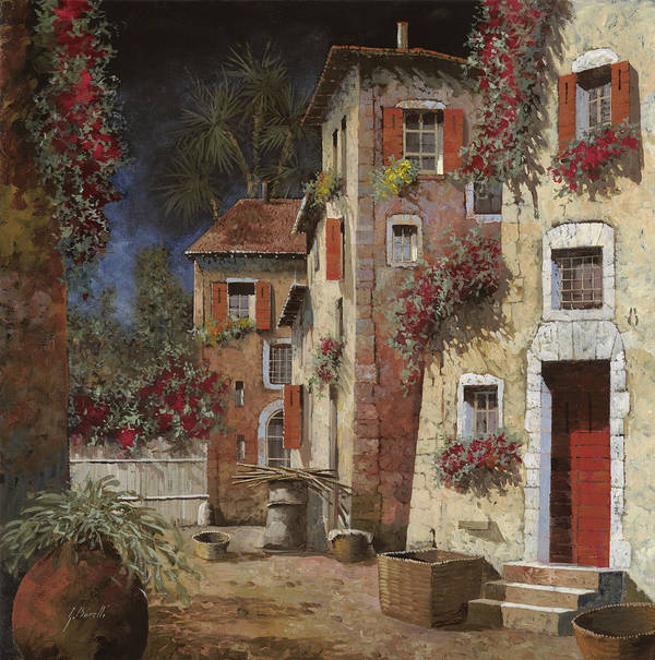 Night Art Print featuring the painting Angolo Buio by Guido Borelli