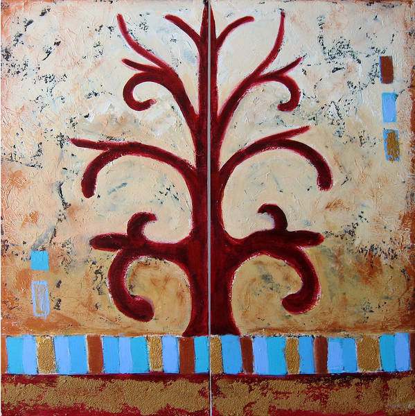 Tree Art Print featuring the painting Antiquity by Aliza Souleyeva-Alexander