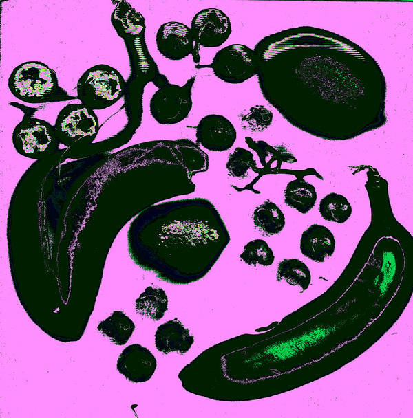 Fruit Art Print featuring the digital art Bananas Are Not The Only Fruit Purple by Rob Prince