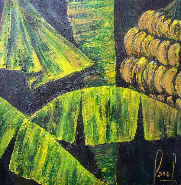 Nature In The Tropics Art Print featuring the painting Bananas by Carol P Kingsley