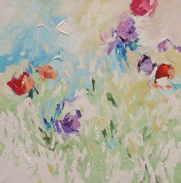 Original Art Print featuring the painting Birth Of Spring by Linda Monfort