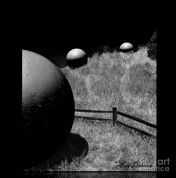 Black & White Photography Art Print featuring the photograph Black Night Sky by Amy Delaine