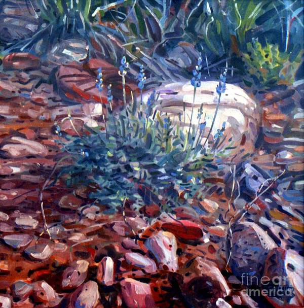 Blue Lupens Art Print featuring the painting Blue Lupens by Donald Maier
