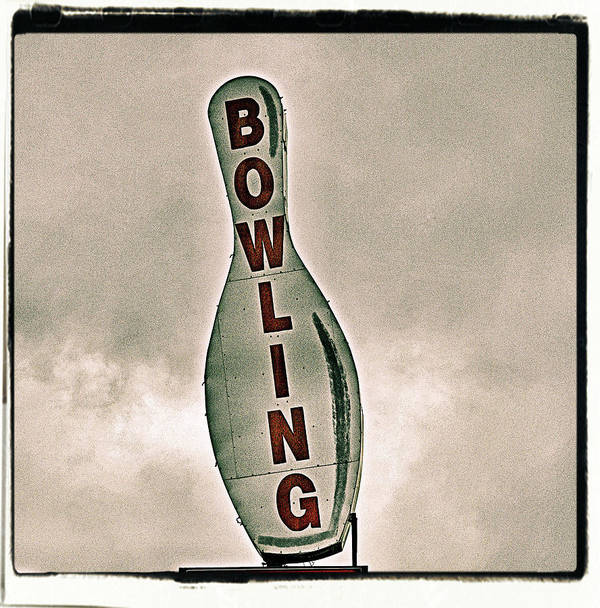 Vertical Art Print featuring the photograph Bowling by Photograph by Bob Travaglione FoToEdge
