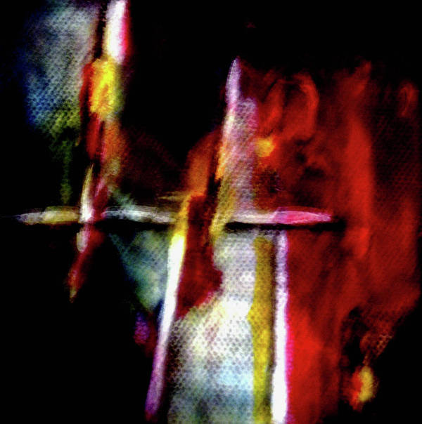 Cross Art Print featuring the painting Burning Legacy by Janice Nabors Raiteri