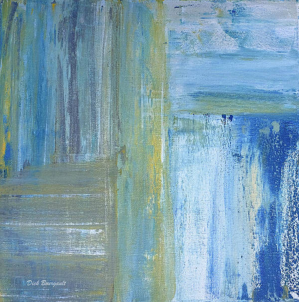 Abstract Art Print featuring the painting Calm by Dick Bourgault
