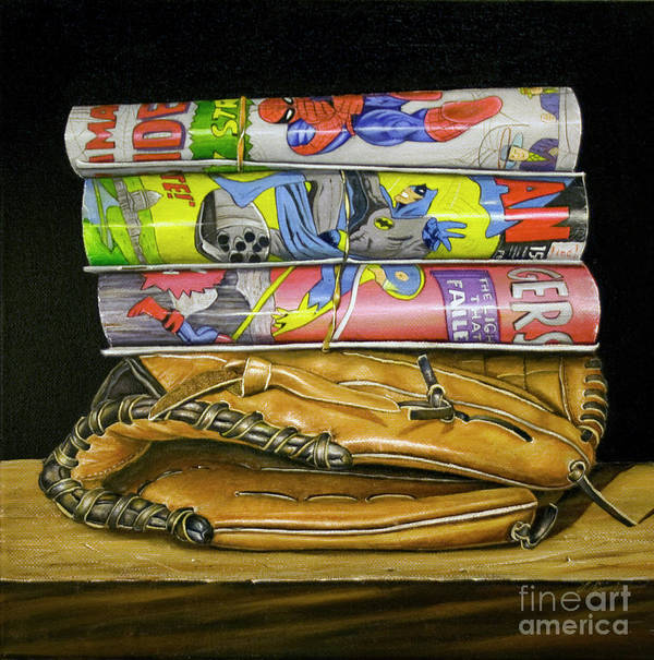 Still Life Art Print featuring the painting Catch The Hero by Vic Vicini