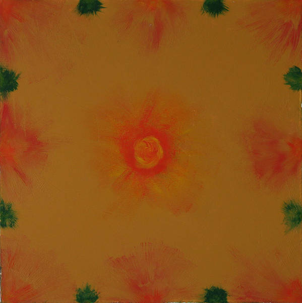 Fine Paintings Art Print featuring the painting Chakra Flares by Malik Jaffer