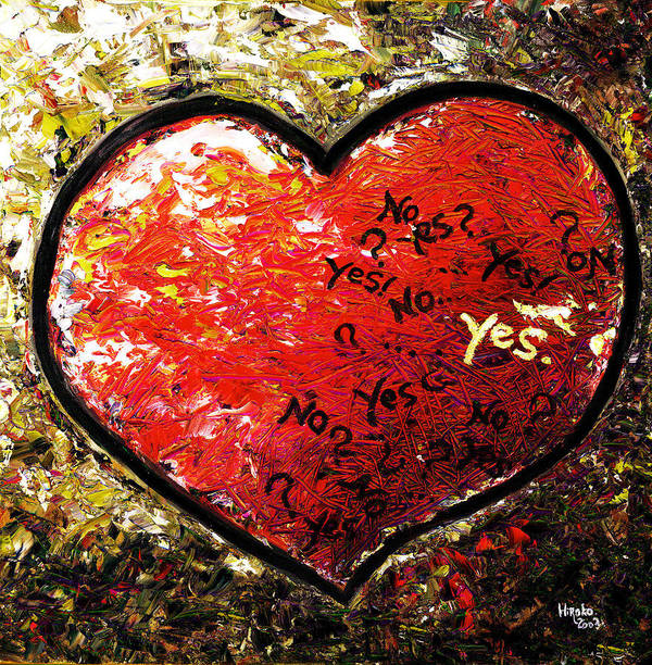 Pop Art Print featuring the painting Chaos In Heart by Hiroko Sakai