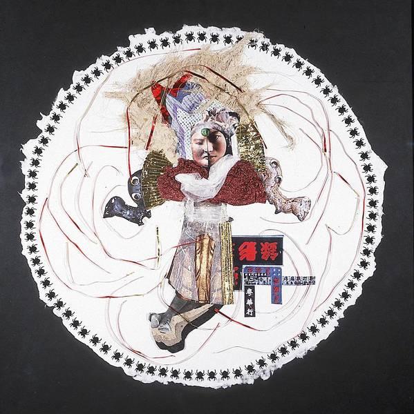 Mandala Art Print featuring the mixed media China Moon-muse by France Garrido