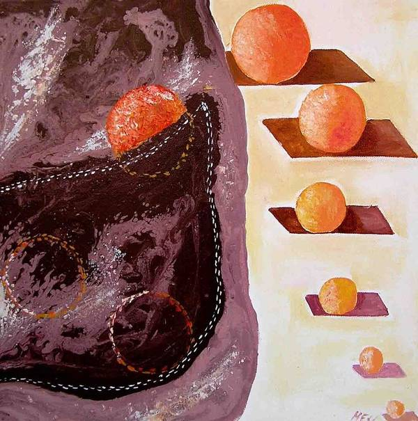 Art Print featuring the painting Chocolate Pocket by Evguenia Men