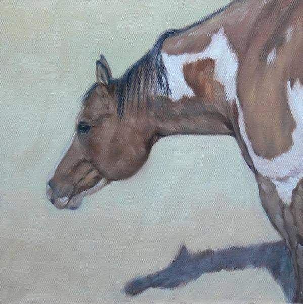 Horse Art Print featuring the painting Cisco Kid by Ruth Andre