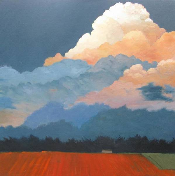 Clouds Art Print featuring the painting Cloud Rising by Gary Coleman