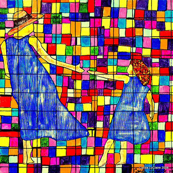 Color Art Print featuring the painting Color Coded Memories by Cynda LuClaire