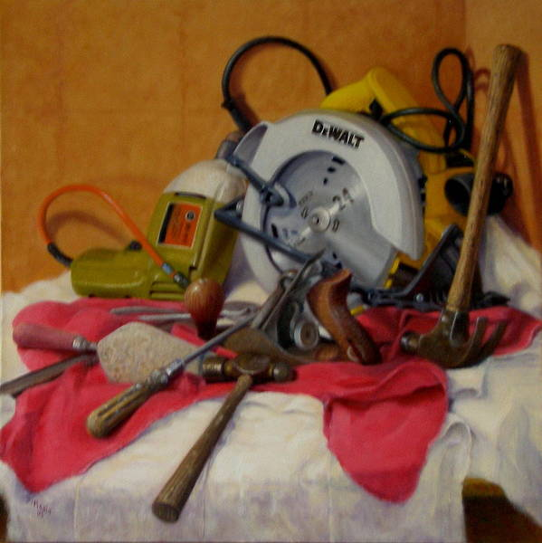 Realism Art Print featuring the painting D. I. Y. 1 by Donelli DiMaria