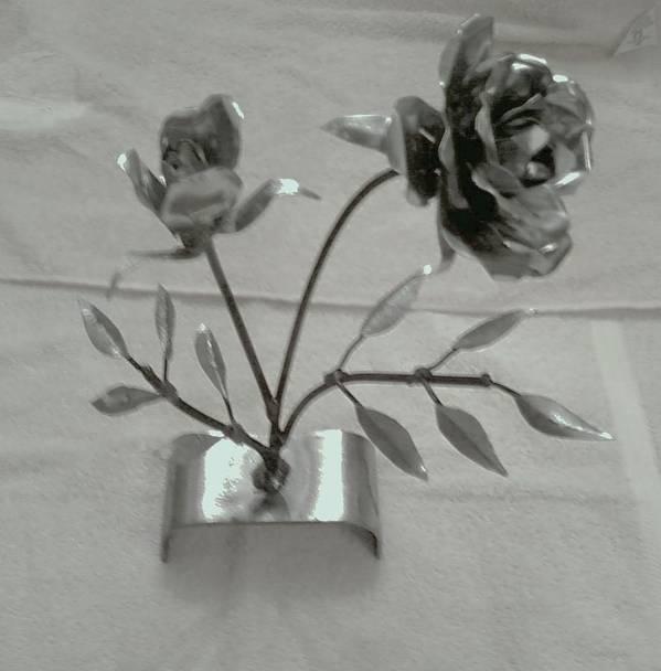 Rose Art Print featuring the mixed media Eternal Rose by Jeff Orebaugh