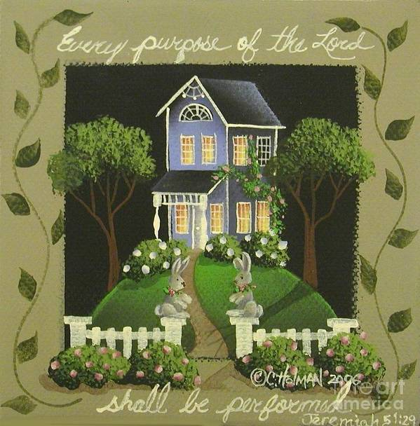 Art Art Print featuring the painting Every Purpose Of The Lord... by Catherine Holman