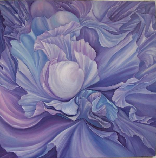 Flower Art Print featuring the painting Extasias by Elsa Gallegos