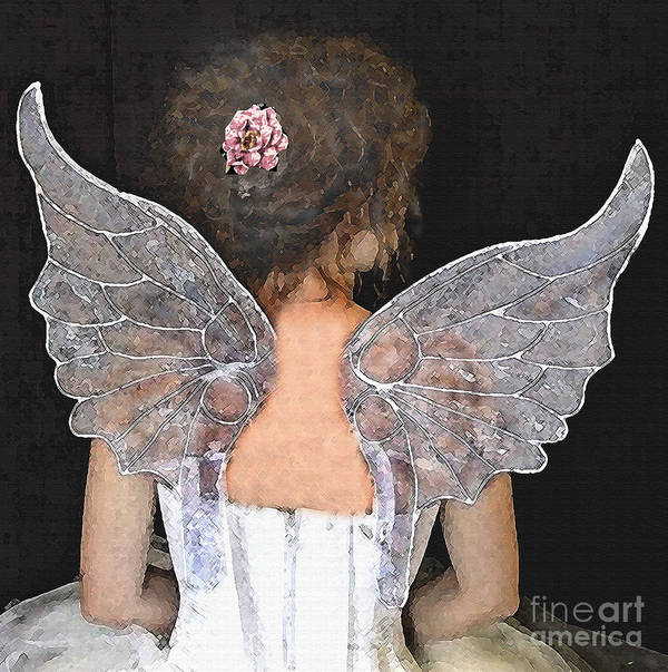 Fairy Painting Art Print featuring the mixed media Fairy Wings by Lamarr Kramer