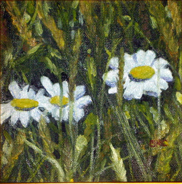 Landscape Art Print featuring the painting Field Daisies by Susan Coffin