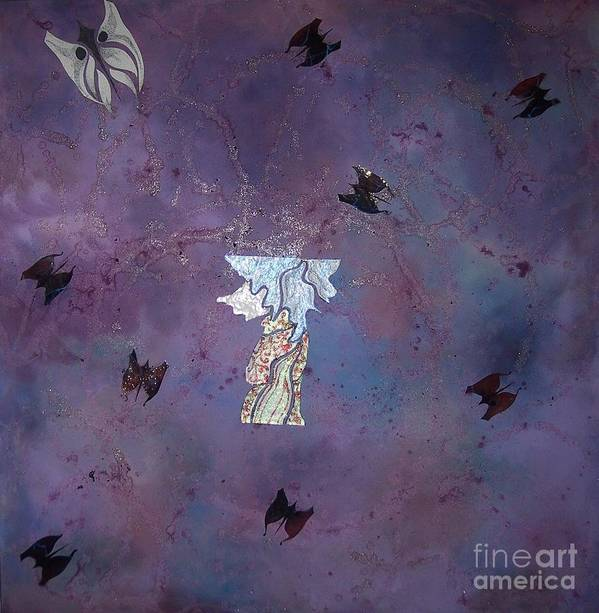 Butterfly Art Print featuring the painting Fluttering Thoughts by Nico Kwan Phillips