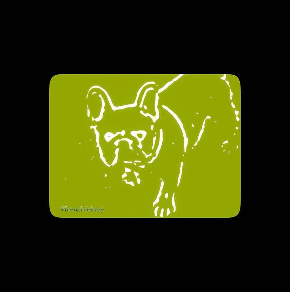 Chartreuse Art Print featuring the photograph Frenchielove Design Chartreuse by Heather Joyce Morrill