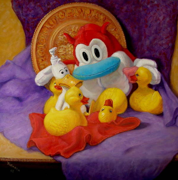 Realism Art Print featuring the painting Friends by Donelli DiMaria
