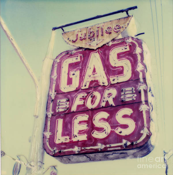 Polaroid Art Print featuring the photograph Gas For Less by Steven Godfrey
