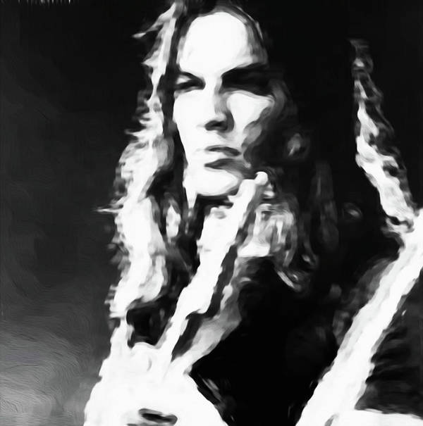 David Gilmour Art Print featuring the painting Gilmour #343 By Nixo by Never Say Never