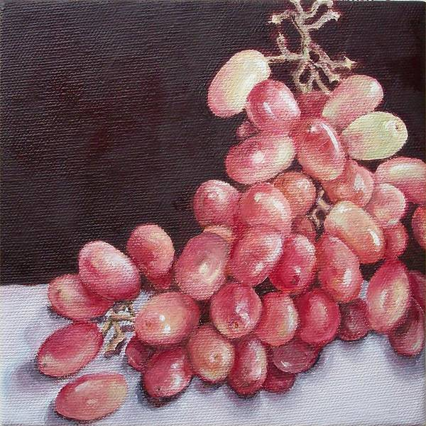 Still Life Art Print featuring the painting Great Grapes 2 by Irene Corey
