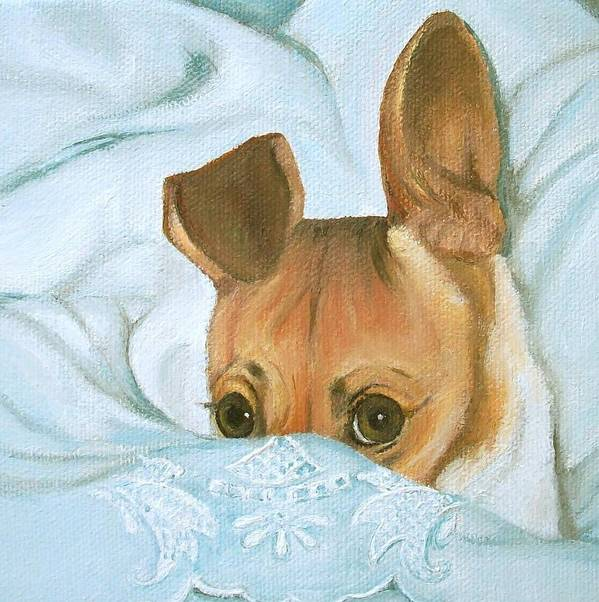 Dog Art Print featuring the painting Greatness by Irene Corey