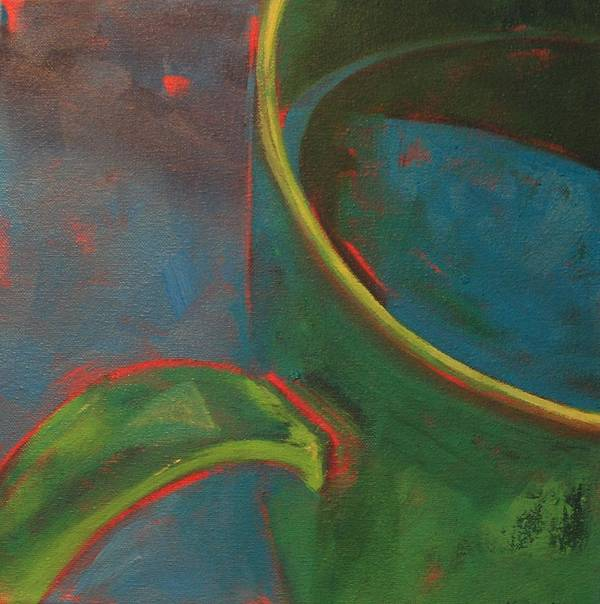 Still Life Art Print featuring the painting Green Tea by Tina Marie Rothwell