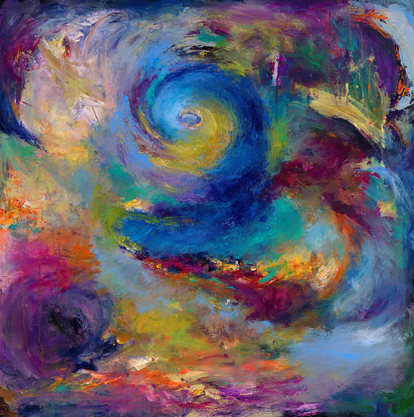 Abstract Expressionistic Art Print featuring the painting Halcyon Winds by Johnathan Harris