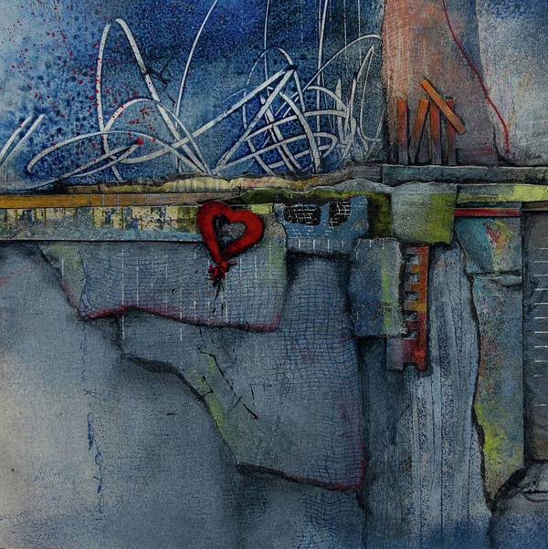 Collage Art Print featuring the mixed media Hang On, Love by Laura Lein-Svencner